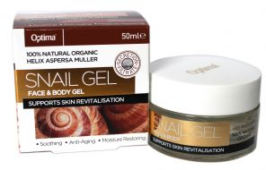 Optima Natural Organic SNAIL GEL For Face & Body Gel 50ml Soothing Anti-Aging